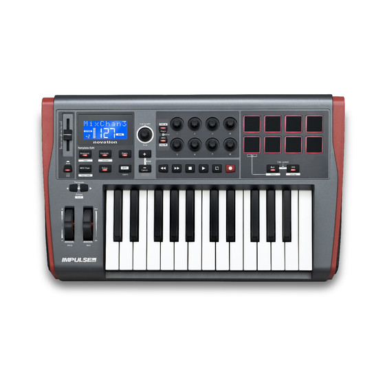 Novation Impulse 25 - 25 Tasten MIDI-Controller, Automap