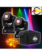 Bundle 2x American DJ Inno Pocket Spot LZR 12W LED + Laser Movinghead mit Tasche