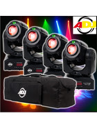 Bundle 4x American DJ Inno Pocket Spot LZR 12W LED + Laser Movinghead mit Tasche
