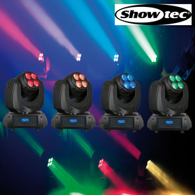 Bundle 4x Showtec Beacon 360 beidseitiger Movinghead 8x RGBW 10Watt Leds endlos Pan + Tilt