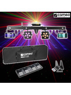 Cameo Power Mutli FX Bar - 5 Effekte 2x72Watt + 2x18Watt + Laser für DJs + Bands