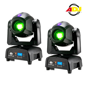 Bundle 2x American DJ ADJ Focus Spot two 75Watt + 3Watt UV LED Movinghead