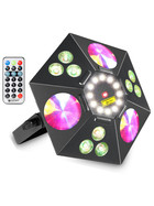 Cameo UVO 5-in-1 LED-Effektscheinwerfer Wash Strobe UV Flower Laser