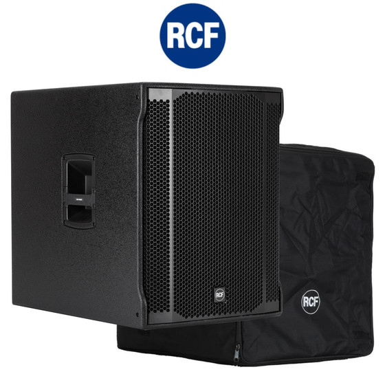 Bundle RCF Sub 8003-AS II Digitaler Aktiver Bass 18 Bassreflex 2200Watt DSP inkl. Cover