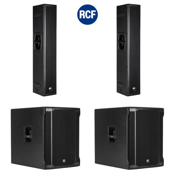 Bundle 2x RCF SUB 8003-AS II 18 Bass + NXL 24-A Aktives 2-Wege Array 7200 Watt