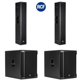 "Bundle 2x RCF SUB 8003-AS II 18"" Bass + NXL 24-A Aktives 2-Wege Array 7200 Watt"