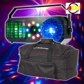 Bundle ADJ Boom Box FX1 4in1 Effekt Derby Moonflower Wash Laser inkl. Tasche