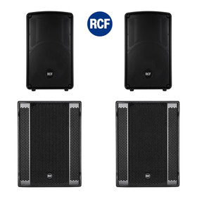 "Bundle RCF PA System 2x SUB 905-AS II 15"" Bass + 2x HD12-A MK4 - 7200 Watt"