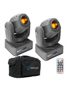 Bundle 2x Cameo NanoSpot 300 LED Moving Head 30 W Nano Spot inkl Transporttasche