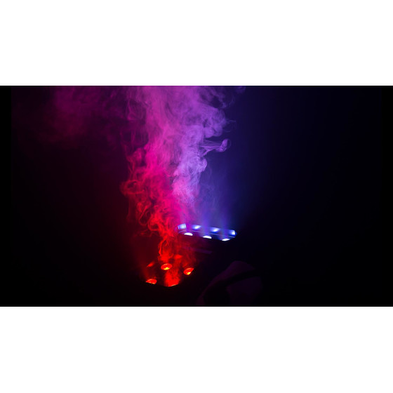 Chauvet DJ Geyser P7 Effekt Nebelmaschine mit 4+3x9W LED CO2 Effekt DMX two color smoke