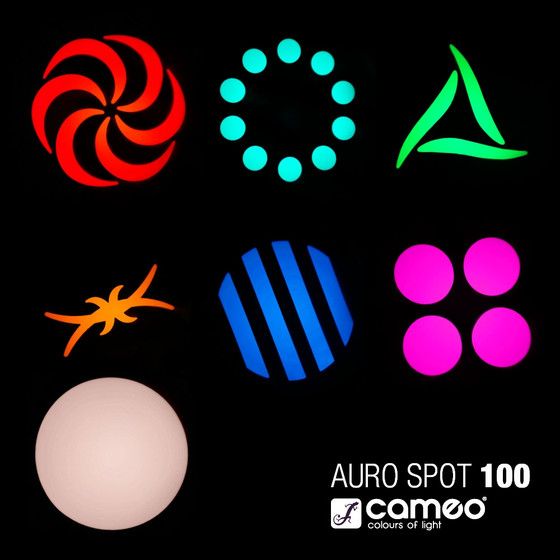 Bundle 2x Cameo Auro Spot 100 Movinghead mit 60 Watt LED, Prisma, Motor Focus