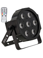Involight SlimPAR766 LED Scheinwerfer mit 7x 6W 6in1 RGBWA/UV LEDs, 25° IR-Remote