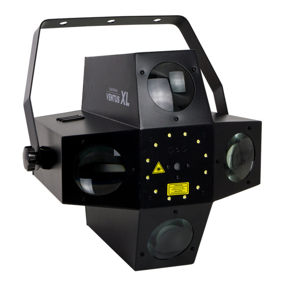 Involight VENTUS XL LED Effekt Beam-Flower, Laser 2M, Strobe, DMX