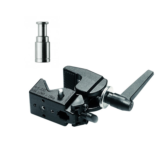 Bundle Manfrotto Super Clamp 035 schwarz inkl. 187 Bolzen 5/8 M10 Innengewinde