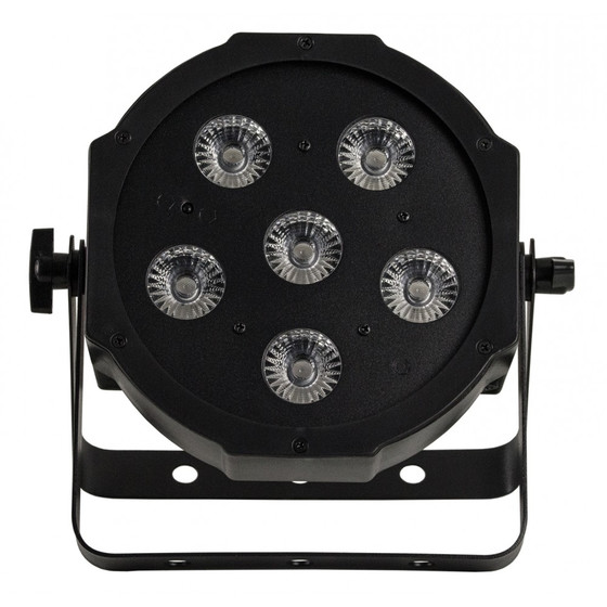 Bundle 4x Involight SlimPAR644 LED Par mit 6x 4W 4in1 RGB/UV LEDs, 25° IR-Remote