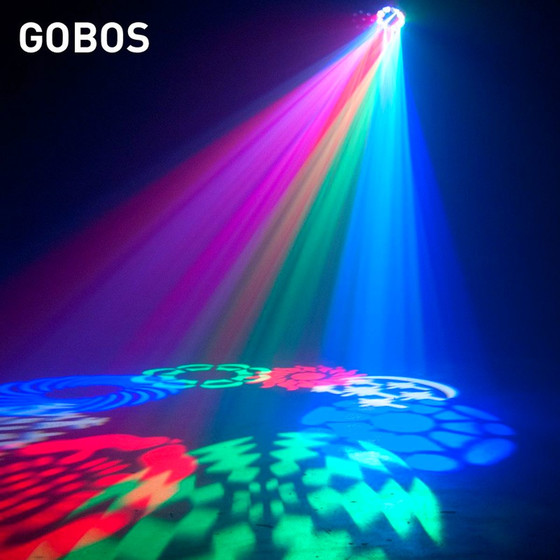 American DJ Stinger Gobo 3 in1 Effekt Gobo-Moonflower Wash Laser  Showroom Ware