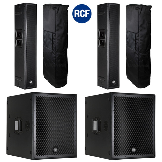 Bundle RCF PA System  2x SUB 8004-AS + 2x NXL 24-A mit Cover - 7800 Watt DSP