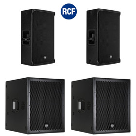 Bundle RCF PA System  2x SUB 8004-AS + 2x NX45-A - 7800 Watt DSP
