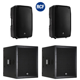 Bundle RCF PA System  2x SUB 8004-AS + 2x HDM45-A - 9400 Watt DSP